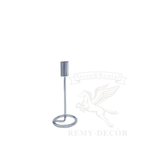 serebryanyj podsvechnik remy decor na tonkoj nozhke gunar sm